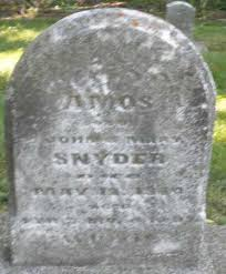 SNYDER, AMOS - Montgomery County, Ohio | AMOS SNYDER - Ohio Gravestone  Photos