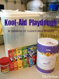 homemade playdough a rainbow of kool