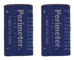 Two Pack Perimeter Pet Fencing Collar Replacement Batteries