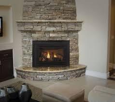 architecture corner gas fireplace