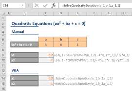 how to solve quadratic equations in