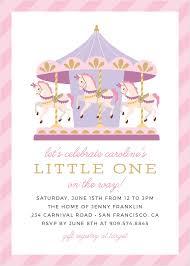 Cutest Carousel Baby Shower Invitations En 2020 Carrusel