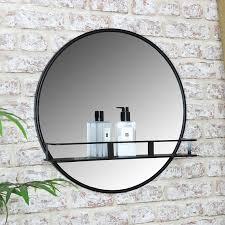wall mirror shelf display