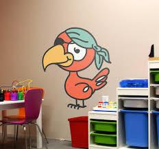 Pirate Parrot Kids Sticker Tenstickers