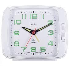 Acctim 'Ada' Bell/Bi Bi Alarm clock - White | Robert Dyas