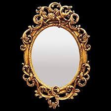 wall mirror baroque style gold leaf