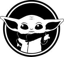 Find Great Deals For Starwars Baby Yoda Decal Vinyl Sticker Color White 5 Inch By 5 Inch Shop With Confi In 2020 Star Wars Stickers Yoda Decals Star Wars Stencil