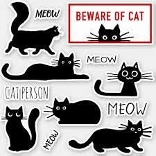 Cute And Funny Black Kitty Cats Vinyl Sticker Set Zazzle Com Black Cat Sticker Cat Stickers Vinyl Sticker