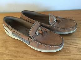 sperry topsiders tan cream leather