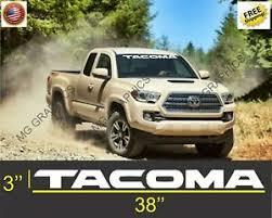 Toyota Tacoma Windshield Logo Text Banner Vinyl Decal Sticker Ebay