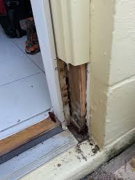 changing exterior door frame exterior