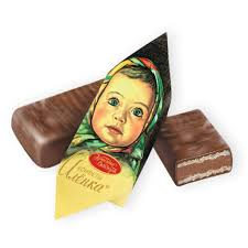 Chỉ 108,000đ Kẹo chocolate nhân bánh xốp hiệu Alyonka 250gr