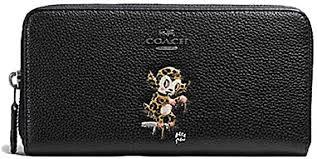 coach baseman x accordion zip wallet in