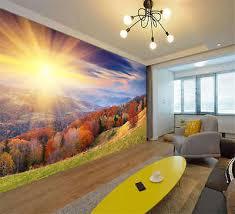 Autumn Forest Sunrise Full Wall Mural Photo Wallpaper Print Kids Home 3d Decal Ebay