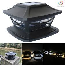 Fcd Waterproof Outdoor Solar Fence Light Led Post Cap Light For Fence Deck Patio Shopee Philippines