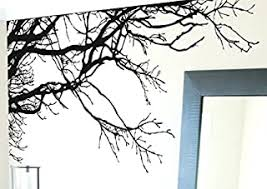 Large Tree Wall Decal Sticker Semi Gloss Black Tree Branches 44in Tall X 100in Wide Left To Right Removable No Paint Needed Tree Branch Wall Stencil The Easy Way B0048f7yx4 Amazon