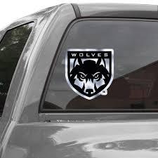 Western Oregon Wolves 12 Metallic Car Decal