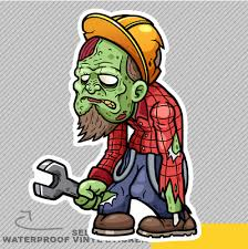 Angry Zombie Mouth Vinyl Sticker Decal Window Car Van Bike 2814 Archives Midweek Com