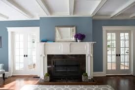 blue paint living room