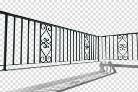 Black Metal Fence Handrail Wrought Iron Balcony Iron Railing Baluster Balcony Transparent Background Png Clipart Hiclipart