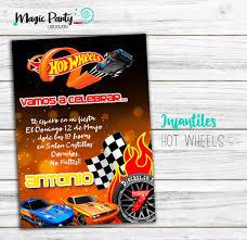 Tarjeta Invitacion Digital Hot Wheels 150 00 En Mercado Libre