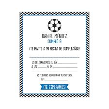 Invitaciones Cumpleanos Futbol Invitacion Personalizada Cumple
