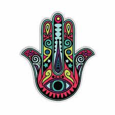 Hamsa Hand Sticker Colorful Decal By Meg Buy Online In El Salvador At Desertcart