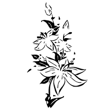 Shop Lily Flowers Vinyl Wall Decal Overstock 8774720