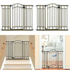 New Dog Gate Indoor Pet Fence Baby Barrier Adjustable Walk Thru Swinging Door
