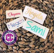 Vinyl Name Decal Lilly Glitter Gold Foil Free Shipping Name Sticker Monogram Sticker Diy Monogram Cell Phone Yeti Swell Corkcicle