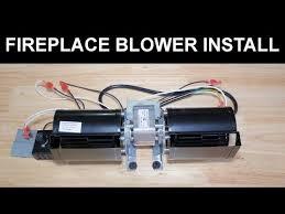 gas fireplace blower fan installation