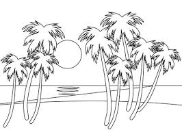 Tropische Strand Kleurplaat Gratis Kleurplaten Printen