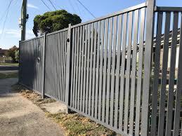 Aluminium Slat Fencing Driveway Gates Melbourne Pinnacle Fencing