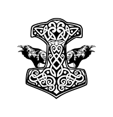 Mjolnir And Ravens Permanent Vinyl Decal Thor S Hammer Etsy Mjolnir Tattoo Norse Mythology Mjolnir