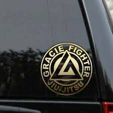 Jiu Jitsu Gracie Fighter Decal Sticker Brazilian Mma Car Truck Laptop Window Ebay