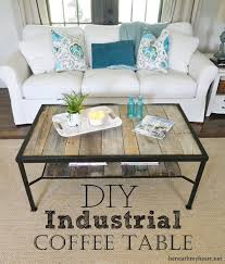 coffee table makeover industrial