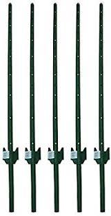 Amazon Com Mtb Fence Post Sturdy Duty Fence U Post 5 Feet Pack Of 5 Garden Outdoor