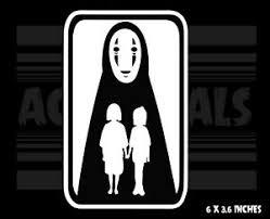 Spirited Away No Face Chihiro Haku Ghibli Anime Vinyl Decal Sticker Ebay