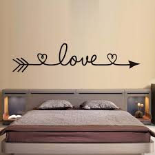Love Arrow Wall Stickers Romantic Bedroom Decals Vinyl Removable Wallpaper Home Decoration Living Room Decal Wish