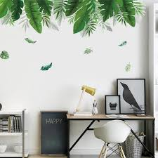 Tropical Rainforest Canopy Plant Leaves Wall Mural Removable Pvc Wall Nordicwallart Com