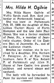 obit of daughter of Lillian Taylor Hayes and John Paul Hayer -  Newspapers.com