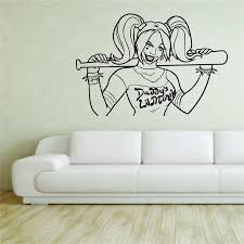 Wall Sticker Decal Vinyl Decor Harley Quinn Joker Suicide Squad Comics Art Decor Home Decor Wall Decals Living Wall Sticker Wall Slicks Wall Stencils And Decals From Joystickers 11 75 Dhgate Com
