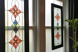faux stained glass window urban