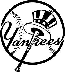 Amazon Com New York Yankees Logo Mlb White Decal Vinyl Sticker Automotive