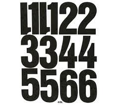 Chartpak Pickett Vinyl Numbers 4 Black Item 458721 Sign Display Store Signs Vinyl Lettering