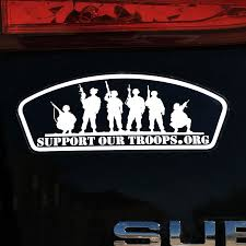 Support Our Troops Squad Bumper Sticker Car Decal Support Our Troops