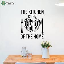 Yoyoyu Wall Decal Kitchen Is Heart Of Home Quote Wall Sticker Dining Room Adhesive Houseware Creative Pattern Window Decor Ct634 Wall Stickers Aliexpress