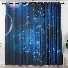 Constellation Outer Space Dream Kids Boys Teens Room Curtain Curtainlinen Com
