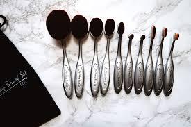 oval makeup brush x my makeup brush set