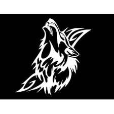 Oracal Wolf Howling Tribal Vinyl Decal Car Wall Truck Sticker Choose Size Color